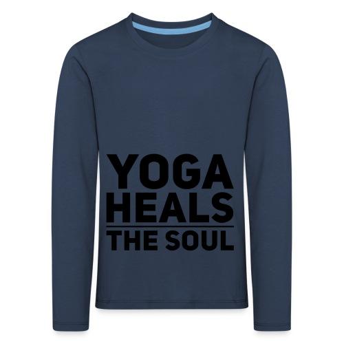 yoga - Kinderen Premium shirt met lange mouwen