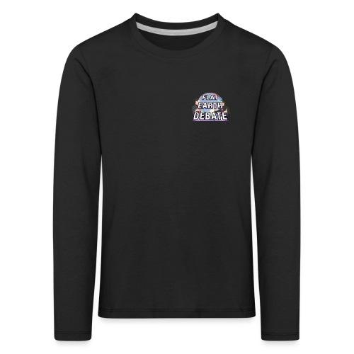Flat Earth Debate Solid - Kids' Premium Longsleeve Shirt