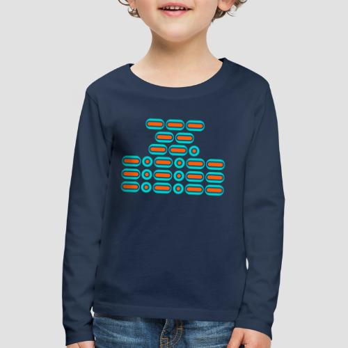 OMG!!! (orange/blue) - Kids' Premium Longsleeve Shirt