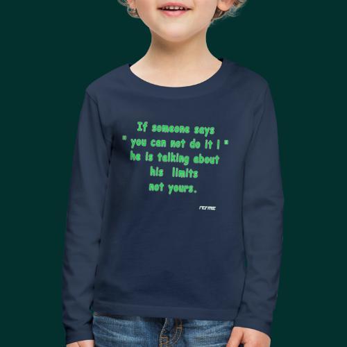 No Limits - Maglietta Premium a manica lunga per bambini