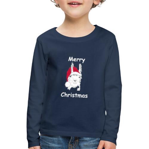Weihnachtslama - Kinder Premium Langarmshirt