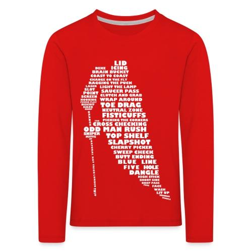 Language of Hockey (White) - Kids' Premium Longsleeve Shirt