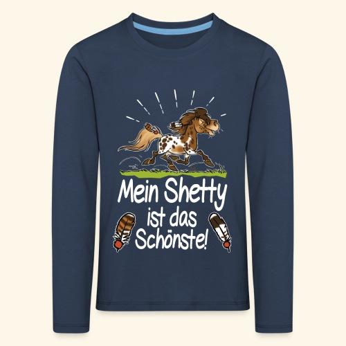 Mein Shetty das Schönste (Text weiss) - T-shirt manches longues Premium Enfant