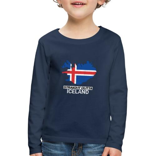 Straight Outta Iceland country map - Kids' Premium Longsleeve Shirt