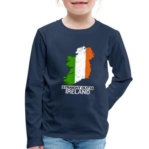 Straight Outta Ireland (Eire) country map flag - Kids' Premium Longsleeve Shirt