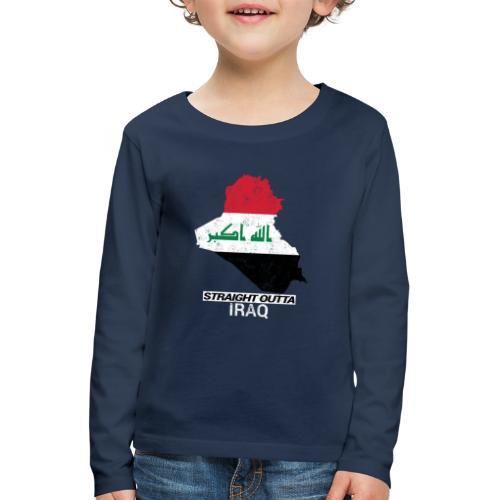 Straight Outta Iraq country map & flag - Kids' Premium Longsleeve Shirt