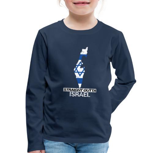 Straight Outta Israel country map & flag - Kids' Premium Longsleeve Shirt