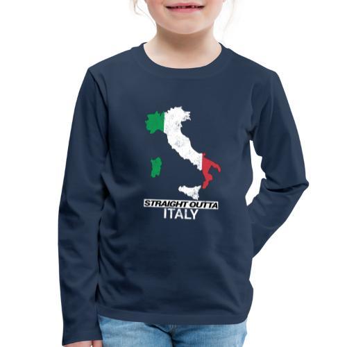 Straight Outta Italy (Italia) country map flag - Kids' Premium Longsleeve Shirt