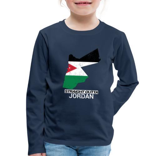 Straight Outta Jordan country map - Kids' Premium Longsleeve Shirt