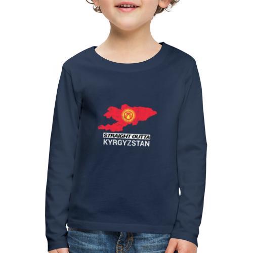 Straight Outta Kyrgyzstan country map - Kids' Premium Longsleeve Shirt