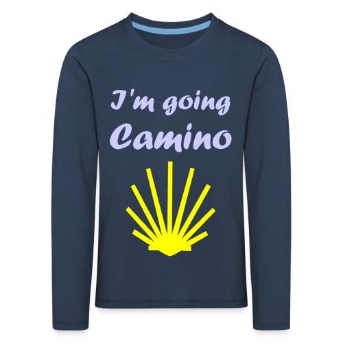 Going Camino - Børne premium T-shirt med lange ærmer