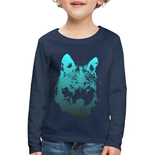 illustration tete de loup - T-shirt manches longues Premium Enfant