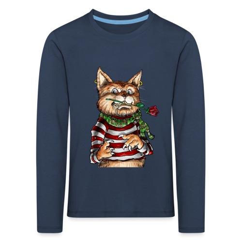 T-shirt - Crazy Cat - T-shirt manches longues Premium Enfant