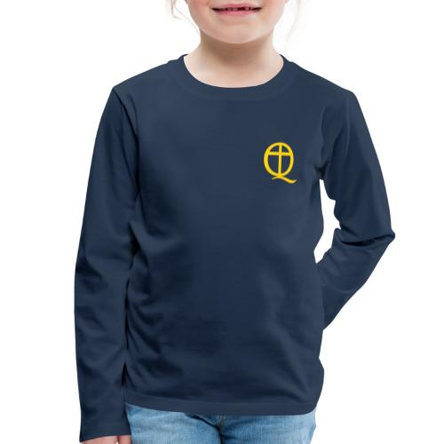 QC Gul - Långärmad premium-T-shirt barn