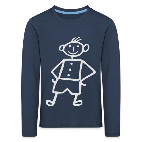 me-white - Kinder Premium Langarmshirt