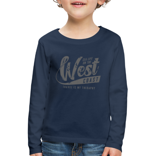 West Coast Sea surf clothes and gifts GP1306B - Lasten premium pitkähihainen t-paita
