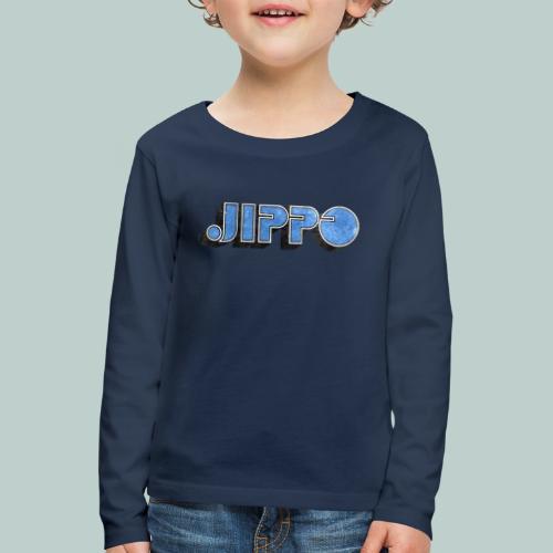 JIPPO LOGO (blue) - Lasten premium pitkähihainen t-paita