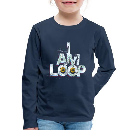 I AM LOOP - Kinder Premium Langarmshirt