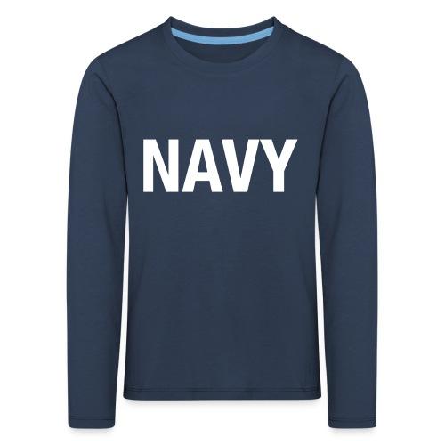 NAVY - Kids' Premium Longsleeve Shirt