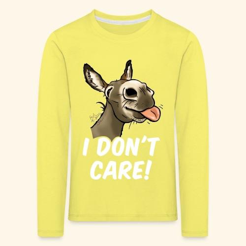 Ane I don't care! (texte blanc) - T-shirt manches longues Premium Enfant