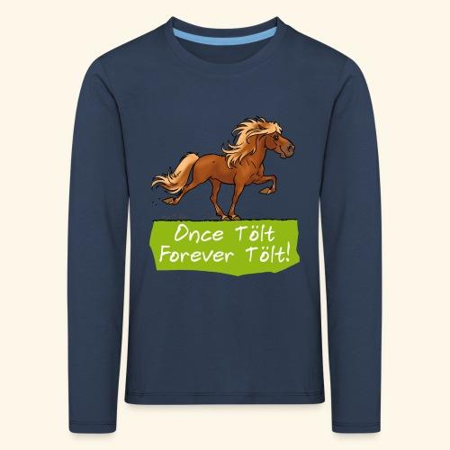 Icelandic horse tölt - T-shirt manches longues Premium Enfant