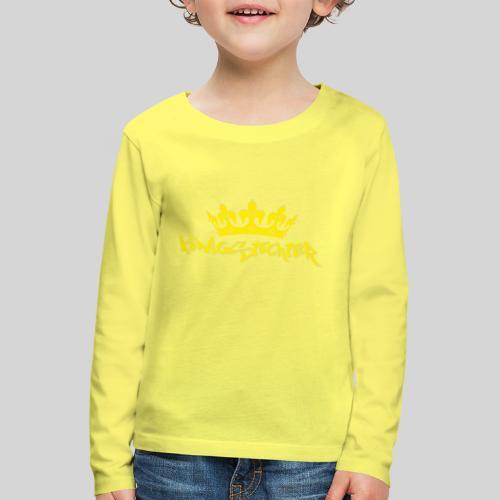 Königstochter m. Krone über der stylischen Schrift - Kinder Premium Langarmshirt