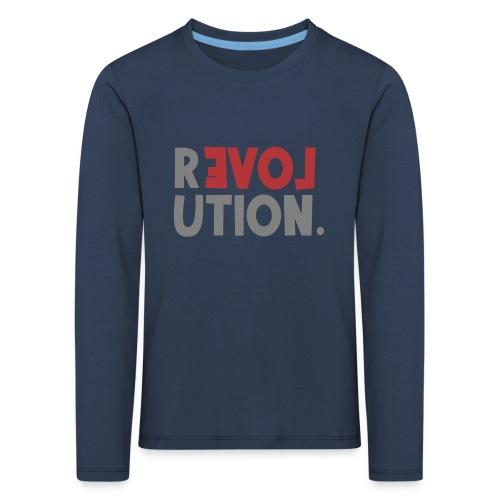 Revolution Love Sprüche Statement be different - Kinder Premium Langarmshirt
