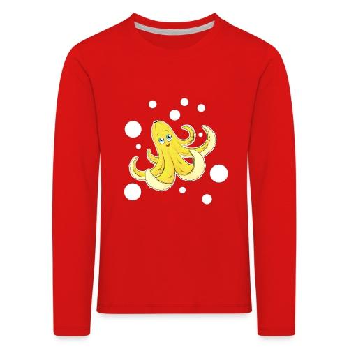 Bananen Oktopus - Oktopus Banane - Lustige Früchte - Kinder Premium Langarmshirt