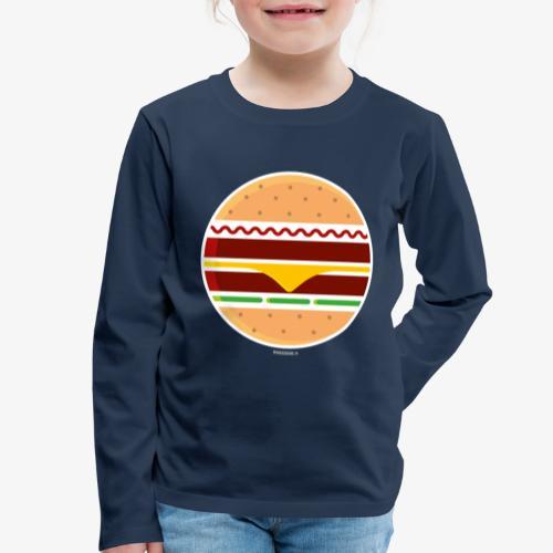 Circle Burger - Maglietta Premium a manica lunga per bambini