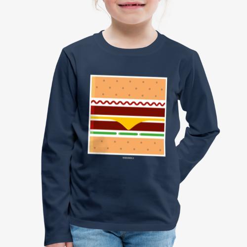 Square Burger - Maglietta Premium a manica lunga per bambini
