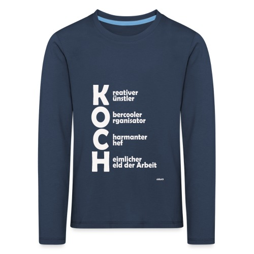 Was macht einen Koch aus? (Premium Shirt) - Kinder Premium Langarmshirt
