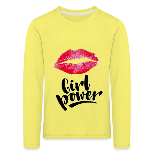 Girl Power - T-shirt manches longues Premium Enfant