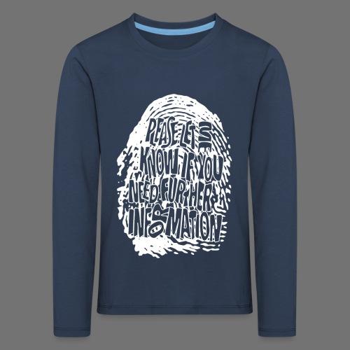 Fingerprint DNA (hvid) - Børne premium T-shirt med lange ærmer