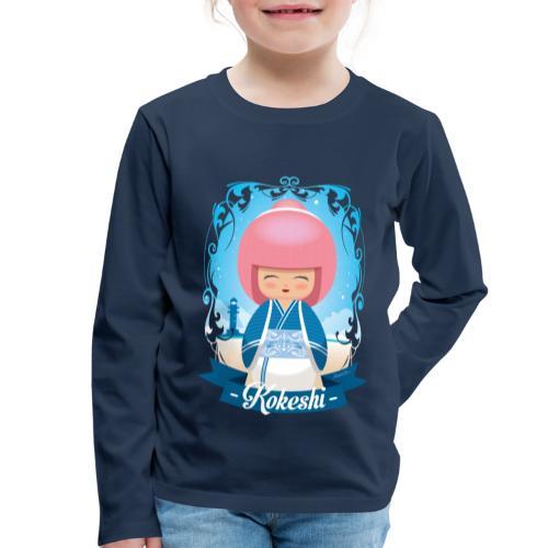 Kokeshi mod.4 - Maglietta Premium a manica lunga per bambini