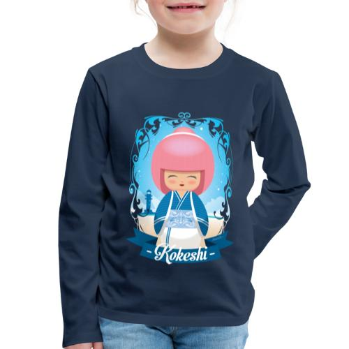 Kokeshi mod.4 - Kinder Premium Langarmshirt