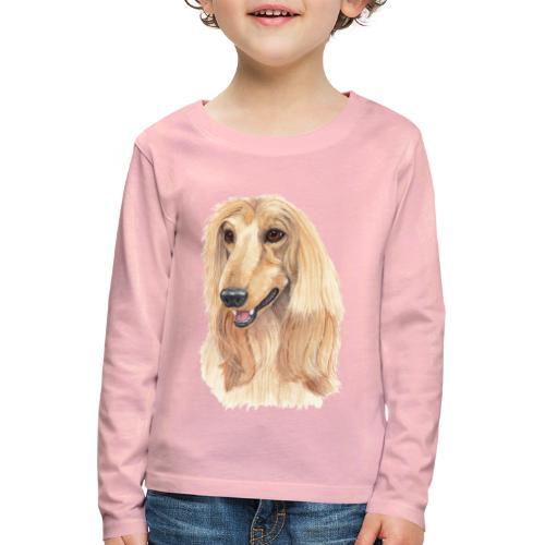 afghanskMynde- A - Børne premium T-shirt med lange ærmer