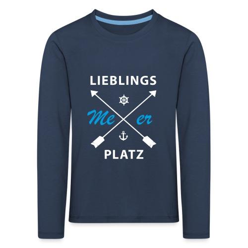 Lieblingsplatz Meer - Kinder Premium Langarmshirt