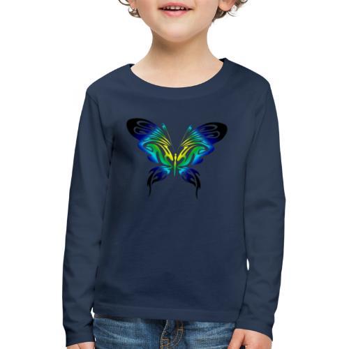 Motyl kolor - Koszulka dziecięca Premium z długim rękawem