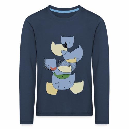 cats coloured - katten gekleurd - Kinderen Premium shirt met lange mouwen