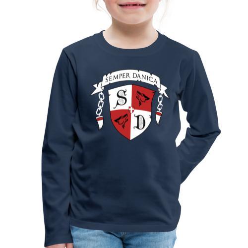 SD logo - hvide lænker - Børne premium T-shirt med lange ærmer
