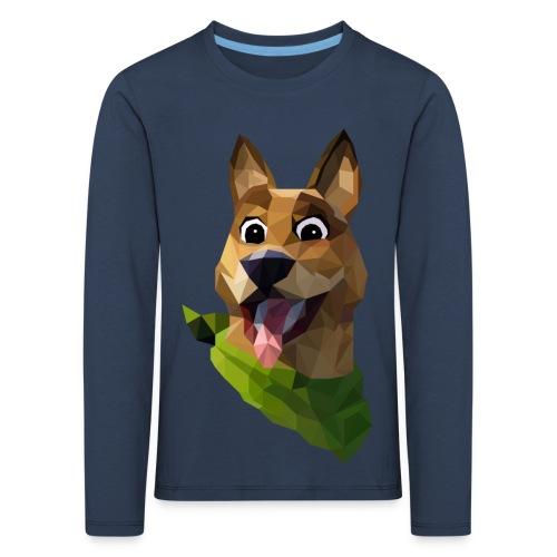 LOW POLY DOGO - T-shirt manches longues Premium Enfant