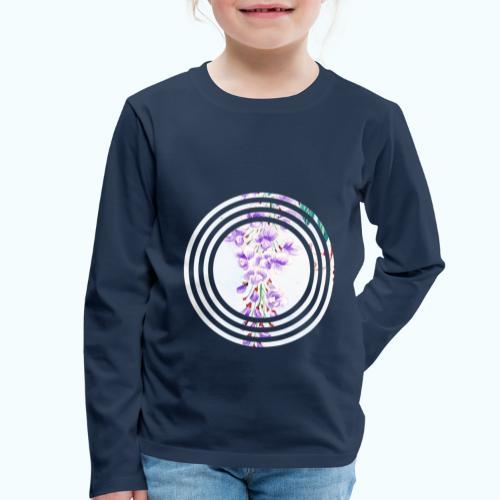 Japan vintage flowers watercolor - Kids' Premium Longsleeve Shirt