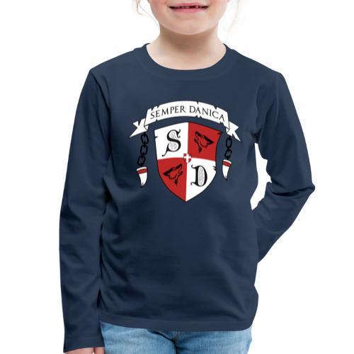SD logo - sorte lænker - Børne premium T-shirt med lange ærmer