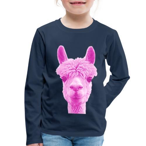 Alpaka Lama Kamel Peru Anden Südamerika Wolle - Kinder Premium Langarmshirt