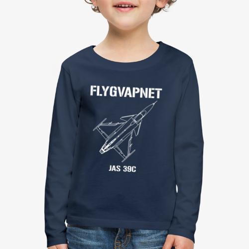 Flygvapnet JAS 39C - Långärmad premium-T-shirt barn