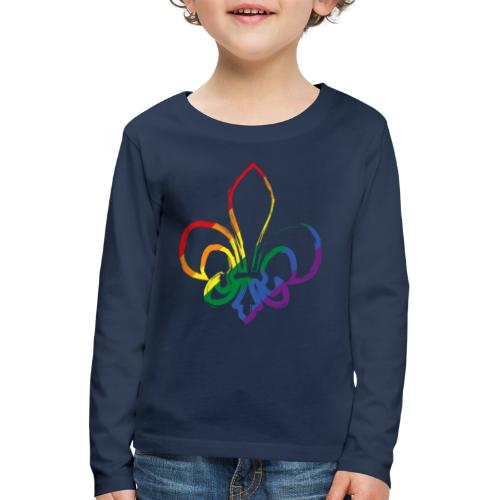 Pinselstrich Lilie Regebogenfahne - Kinder Premium Langarmshirt