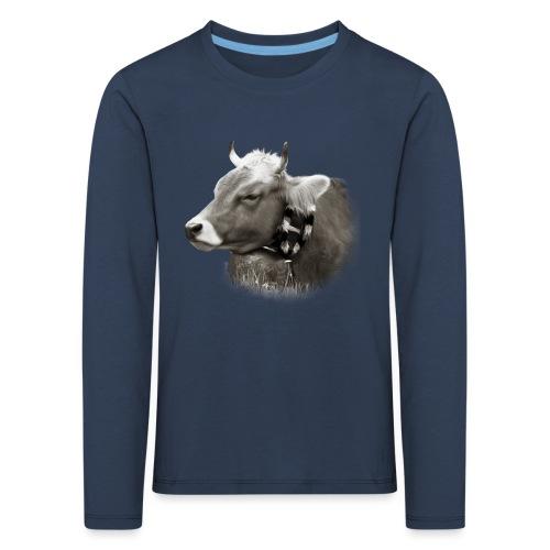 Allgäu Kuh sepia - Kinder Premium Langarmshirt
