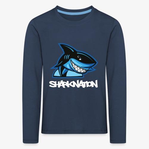 SHARKNATION / White Letters - Kinderen Premium shirt met lange mouwen
