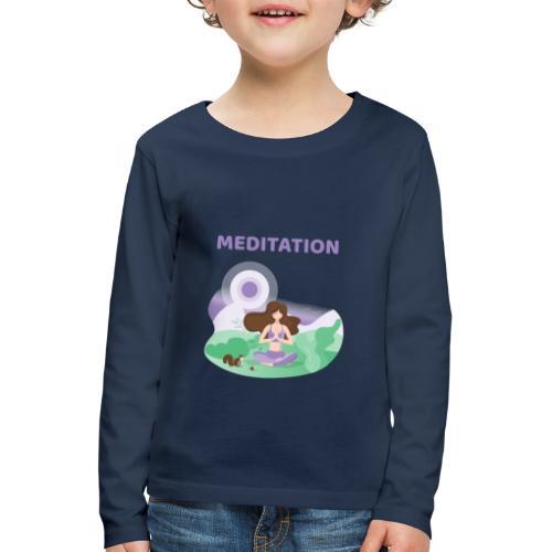 Yoga Meditation - Maglietta Premium a manica lunga per bambini