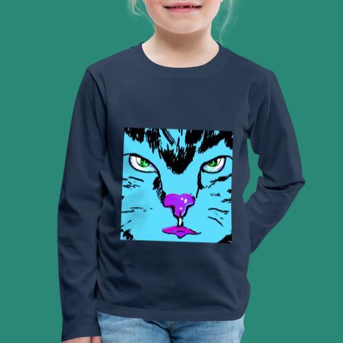 Der blaue Kater - Kinder Premium Langarmshirt